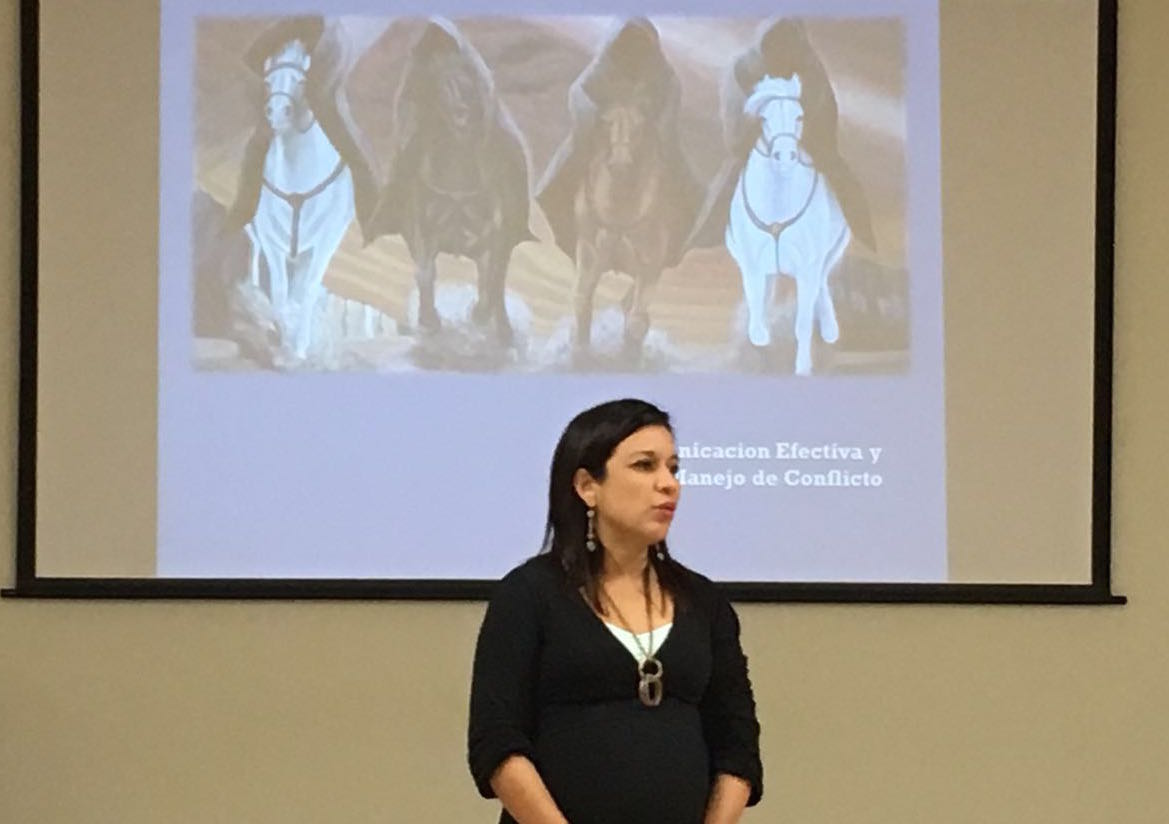 Heide Rodriguez teaches new parents about the four horsemen