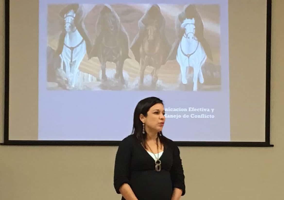 Heide Rodriguez teaches new parents about the four horsemen