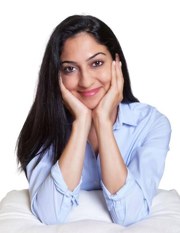 Lebanese woman smiling
