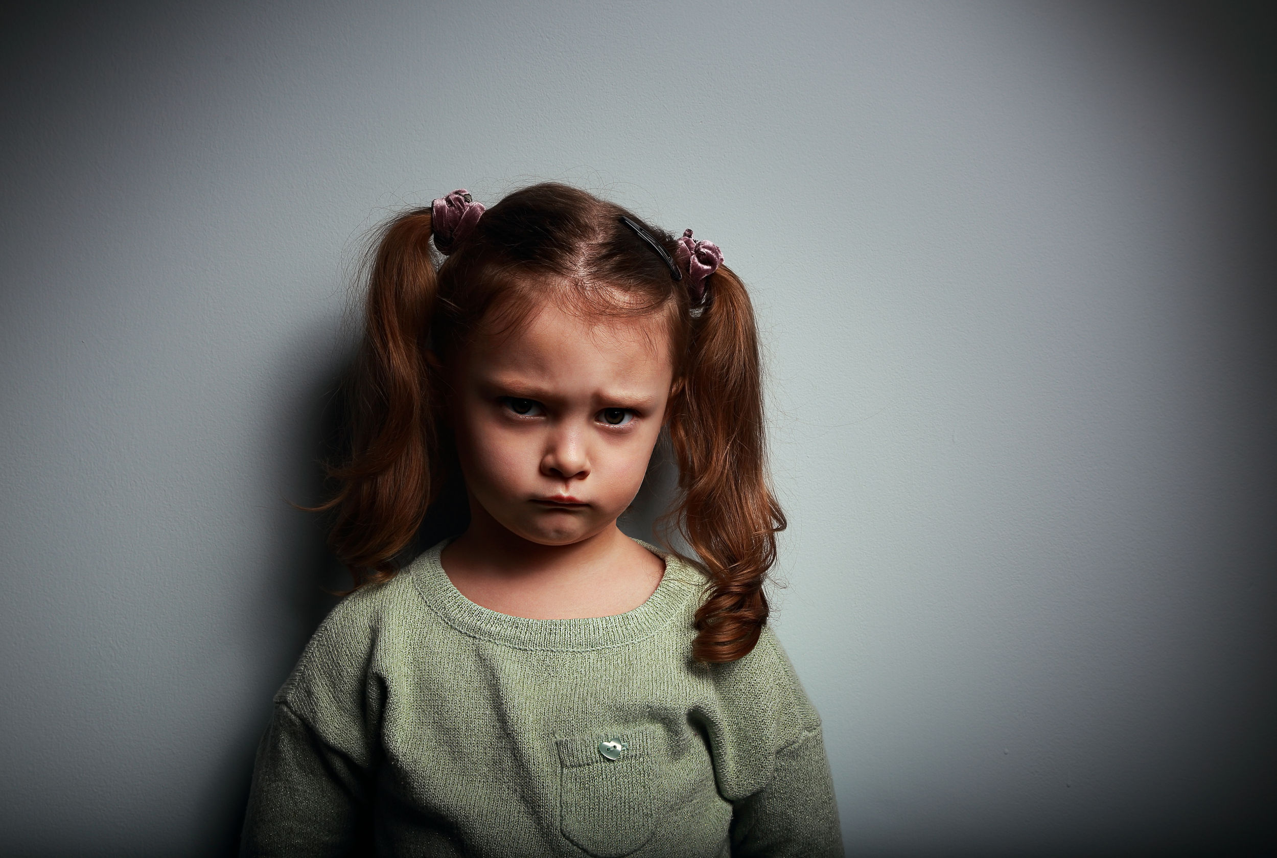 37460258 - Sad Kid Girl Looking With Very Unhappy Face On -2825